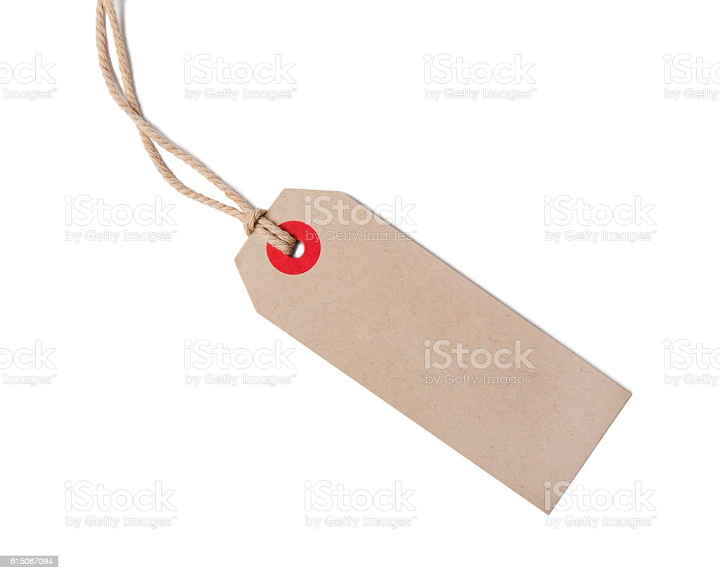 Empty shopping tag template with clipping path stock photo