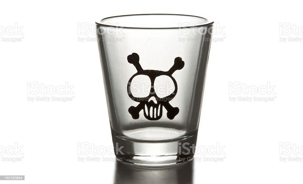 Empty shot glass royalty-free stock photo