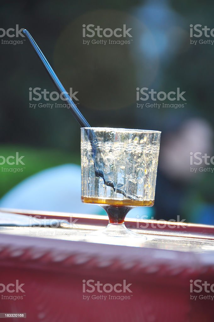 Empty shot glass royalty-free stock photo