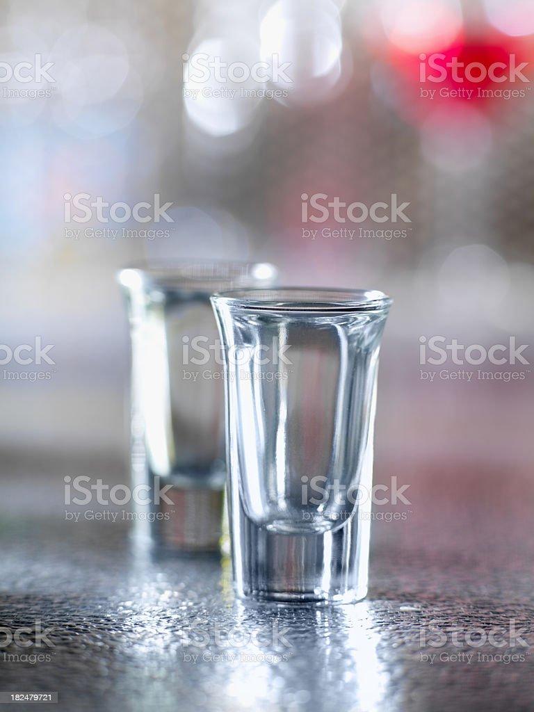 Empty Shot Glasses royalty-free stock photo