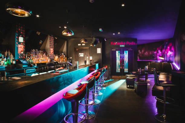 Empty shot of nightclub stock photo