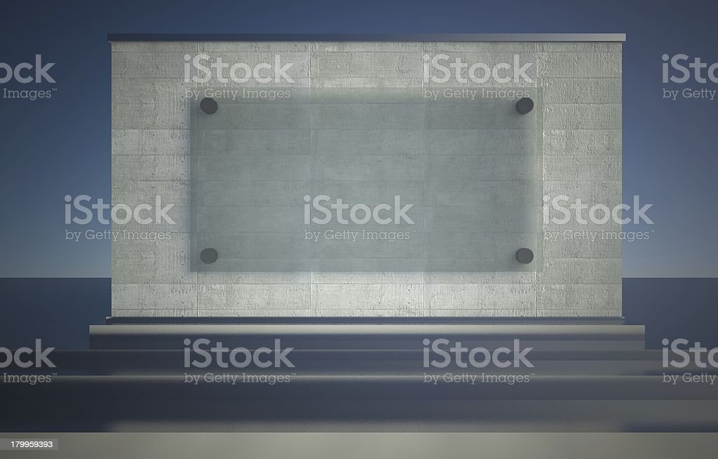 Empty showcase, 3d exhibition space royalty-free stock photo
