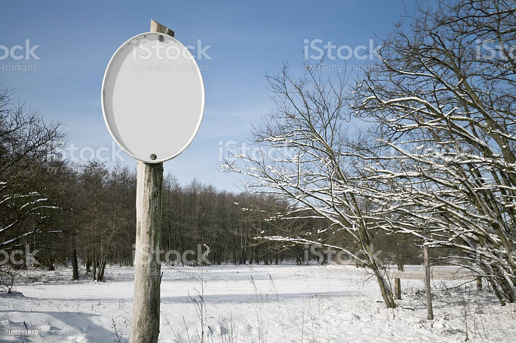 Empty sign in the nature royalty-free stock photo