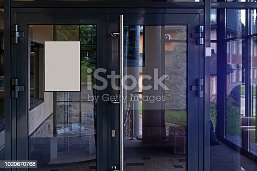 istock Empty sign on the office door 1020670768