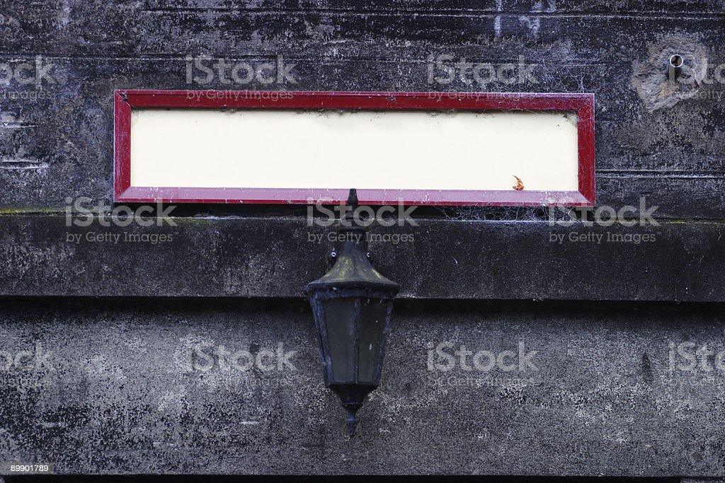 Пустой знак Стоковые фото Стоковая фотография