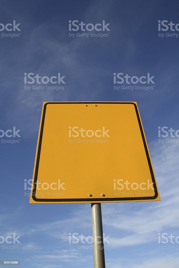 Empty sign royalty-free stock photo