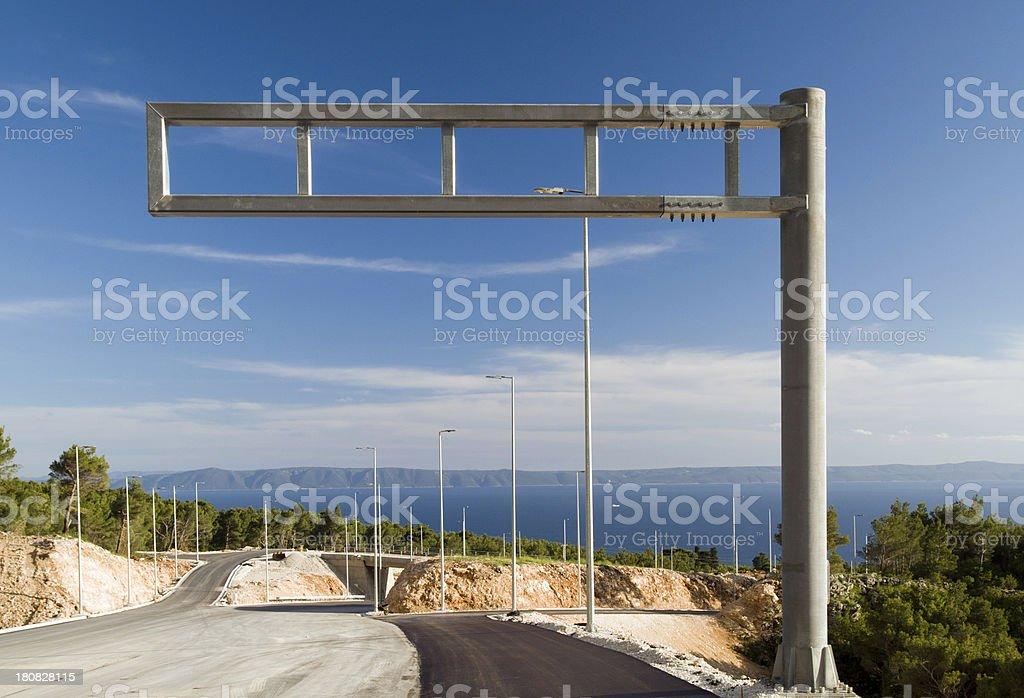 Empty signpost royalty-free stock photo