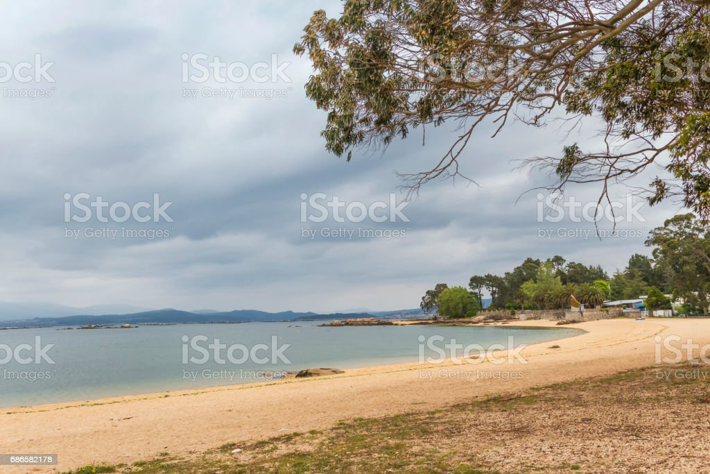 Empty Sinas beach royalty-free stock photo