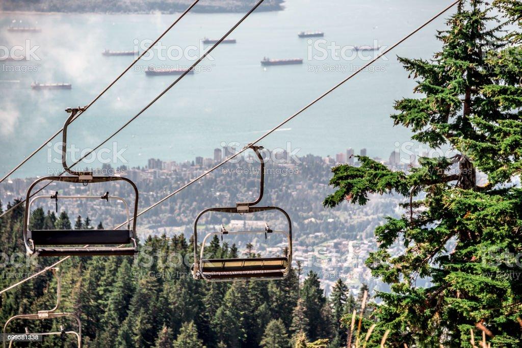 Leere Ski Lift Stühle – Foto