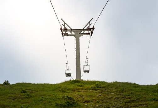 istock Empty ski lift on the mountain 543359672