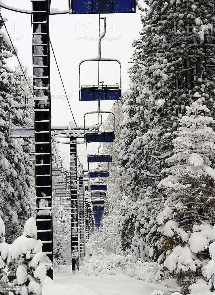 Empty Ski Lift - Royalty-free Activity Stock Photo