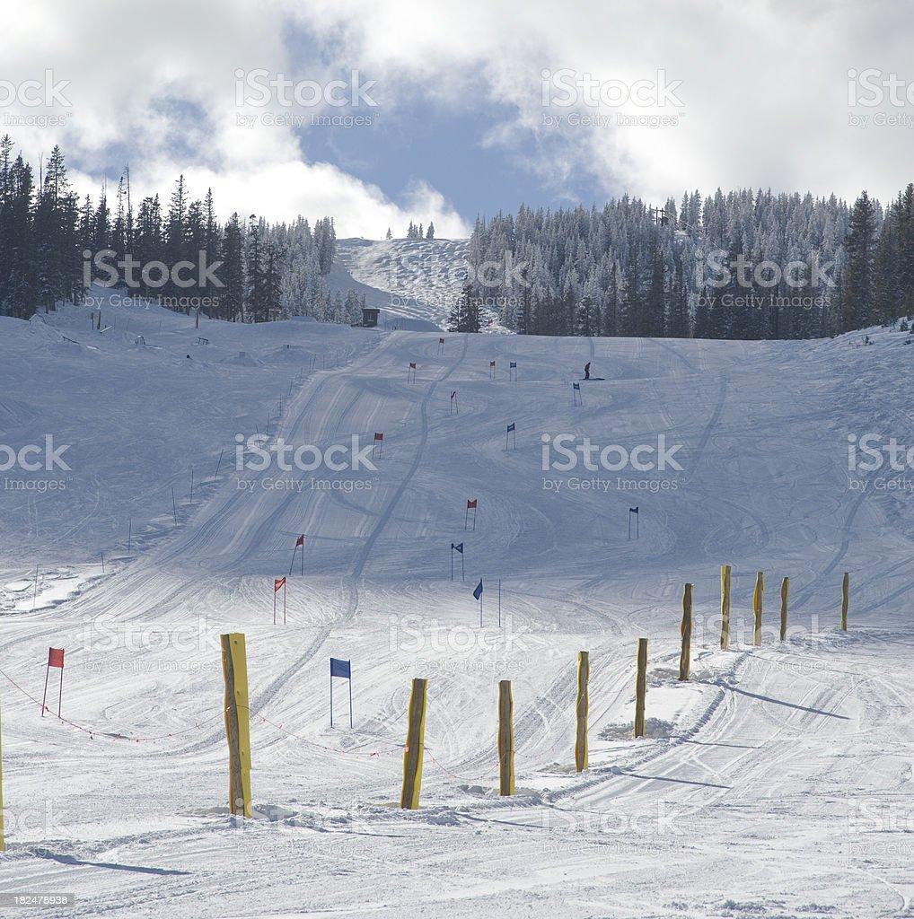 Empty Ski Race Course stock photo