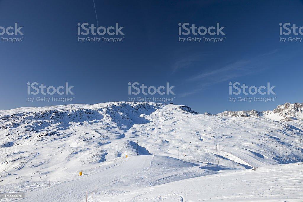 Empty ski slope royalty-free stock photo
