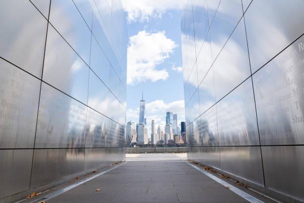 Empty Sky Memorial in Jersey City, USA stock photo