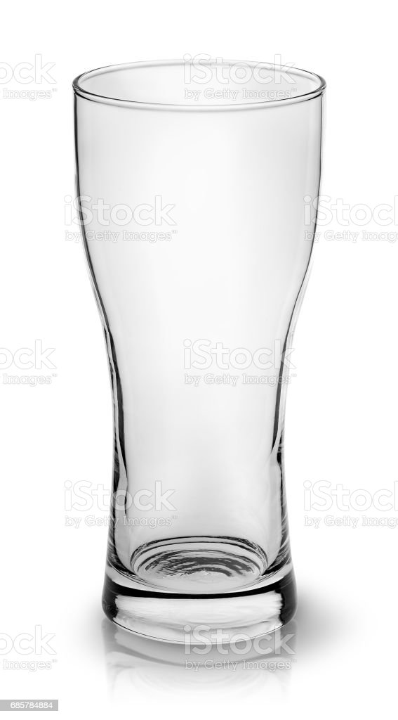 Empty small beer glass top view royalty-free stock photo