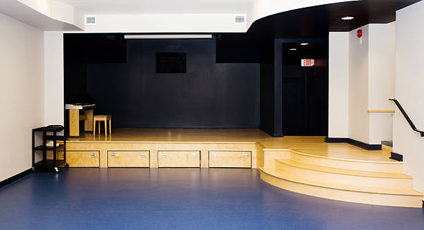 Empty Small Stage stock photo