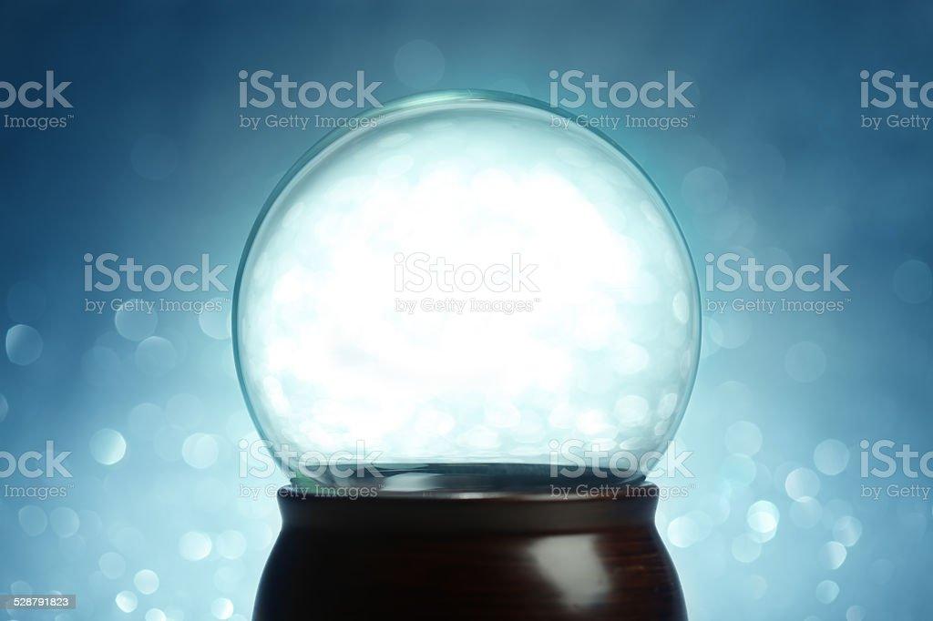 Globo de nieve vacía - foto de stock