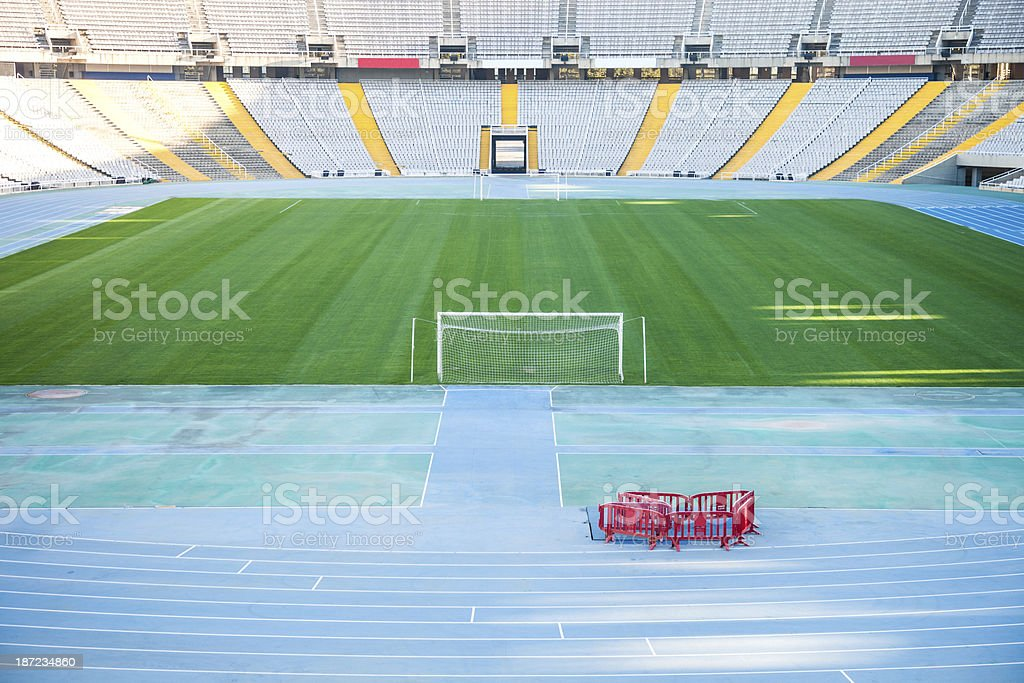 Empty soccer big stadium royalty-free stock photo