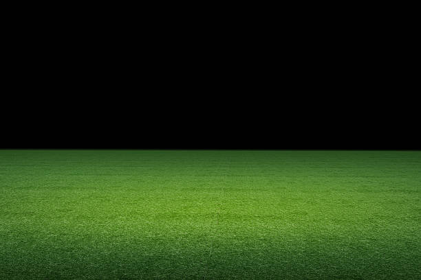 empty soccer field 3d rendered empty soccer field soccer field stock pictures, royalty-free photos & images
