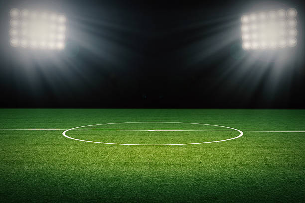 empty soccer field - soccer field stock photos and pictures