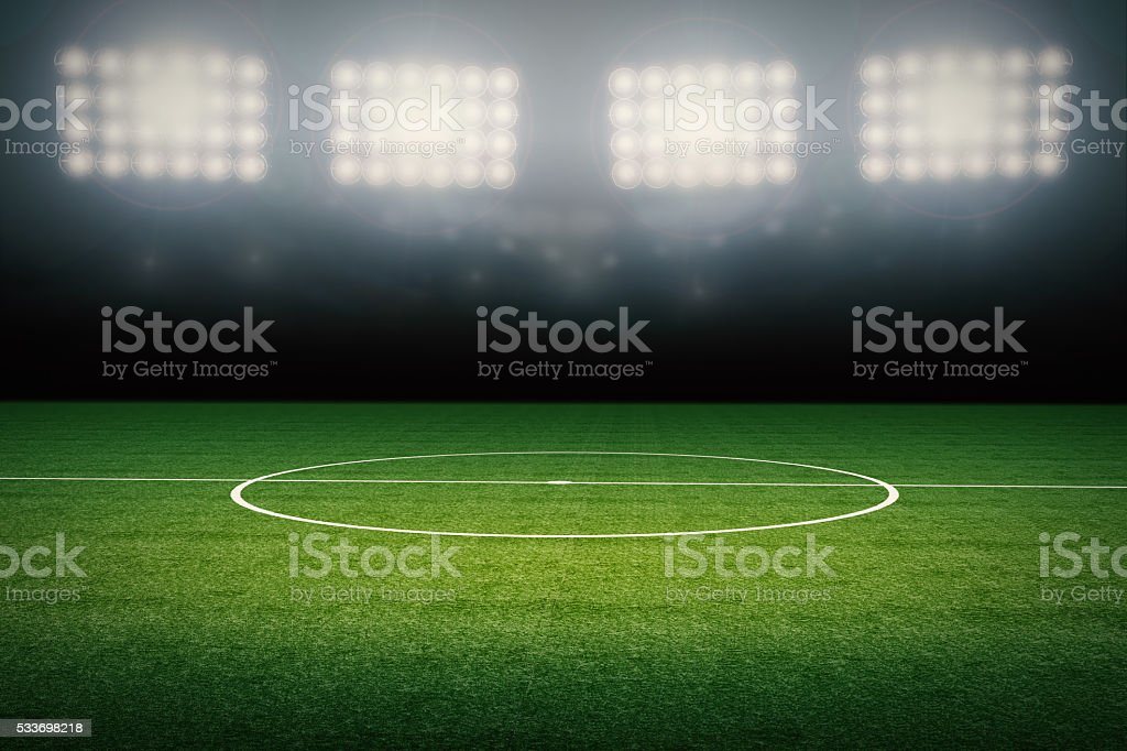 empty soccer field stock photo