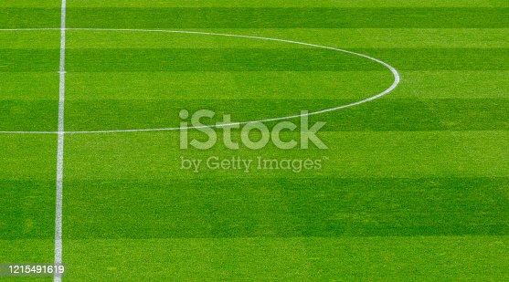 1176737230istockphoto Empty soccer's field at the stadium during quarantine 1215491619