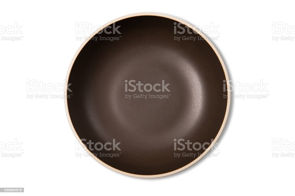 Empty Soup Bowl With Clipping Path stock photo