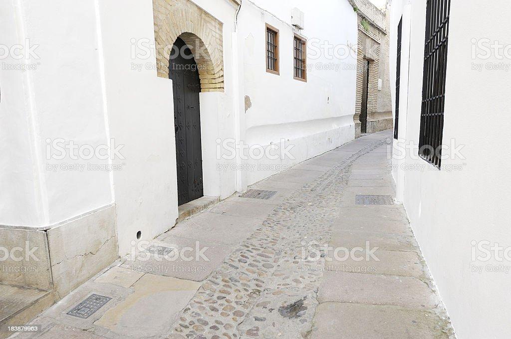 Empty Spanish street royalty-free stock photo
