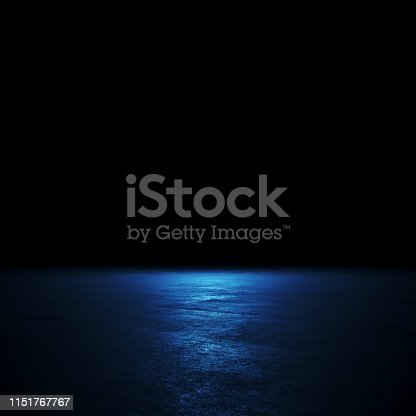 istock Empty spot lit dark background 1151767767