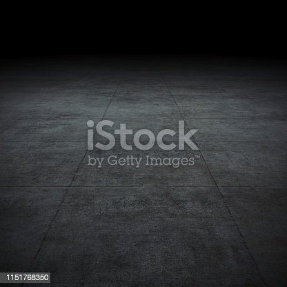 istock Empty spot lit dark background 1151768350