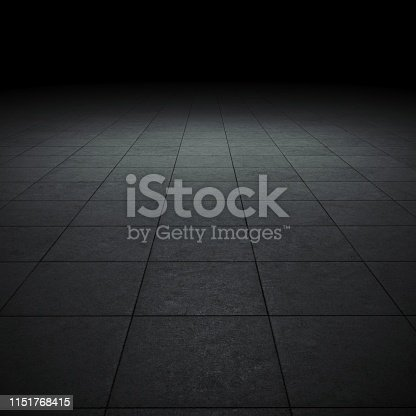istock Empty spot lit dark background 1151768415