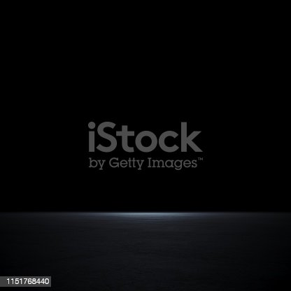 istock Empty spot lit dark background 1151768440