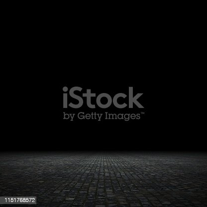 istock Empty spot lit dark background 1151768572
