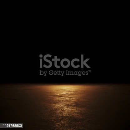 istock Empty spot lit dark background 1151768903