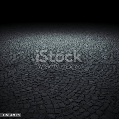 istock Empty spot lit dark background 1151768989