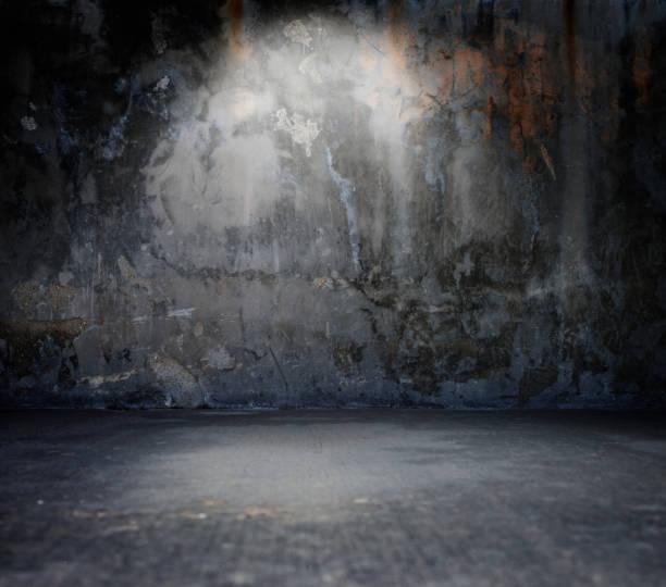 Empty spotlit concrete background stock photo
