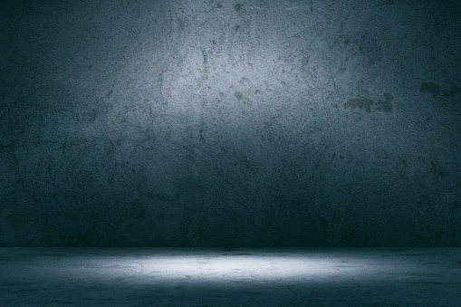Empty spotlit concrete background