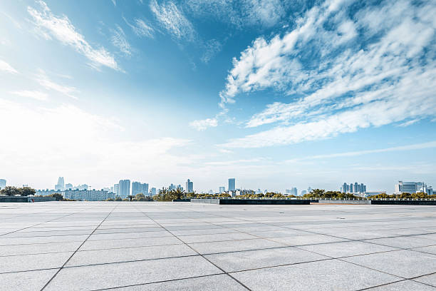 Empty square and floor with sky Empty square and floor with sky town square stock pictures, royalty-free photos & images