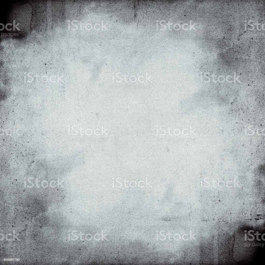 Empty square black and white film frame with heavy grain stock photo