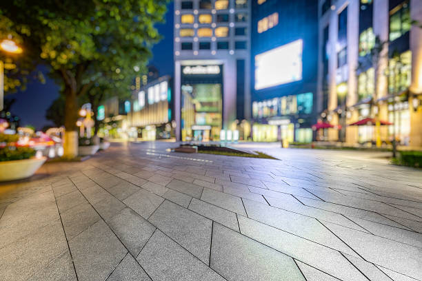 empty square front of shopping mall empty square front of shopping mall Shanghai China. market retail space stock pictures, royalty-free photos & images