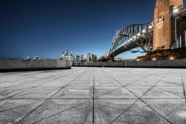 leeren quadratischen Vorderseite des Sydney Harbour bridge – Foto