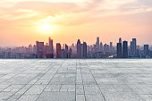 istock empty square front of tianjin city skyline 866459262