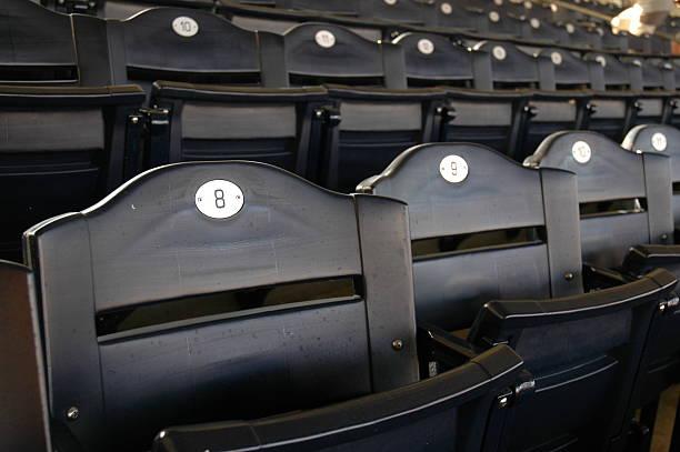 Empty Stadium Seating stock photo