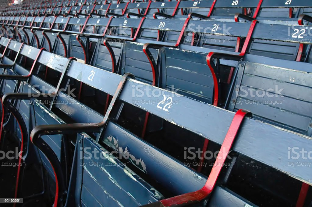 Empty Stadium Seating stock photo