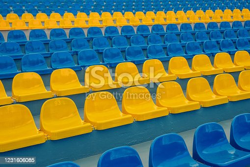 Empty Stadium seats background