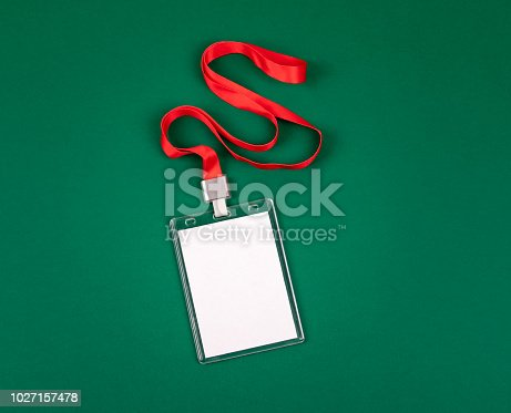1049305186istockphoto empty staff identity mockup with red lanyard 1027157478