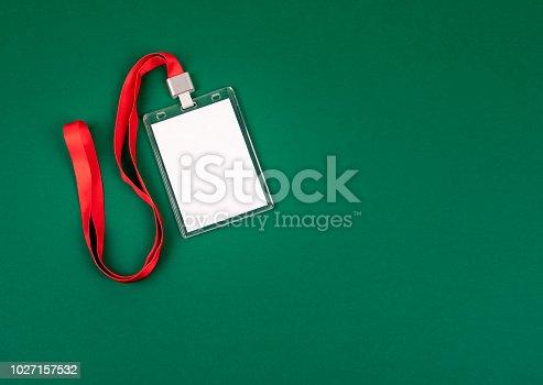 1049305186istockphoto empty staff identity mockup with red lanyard 1027157532