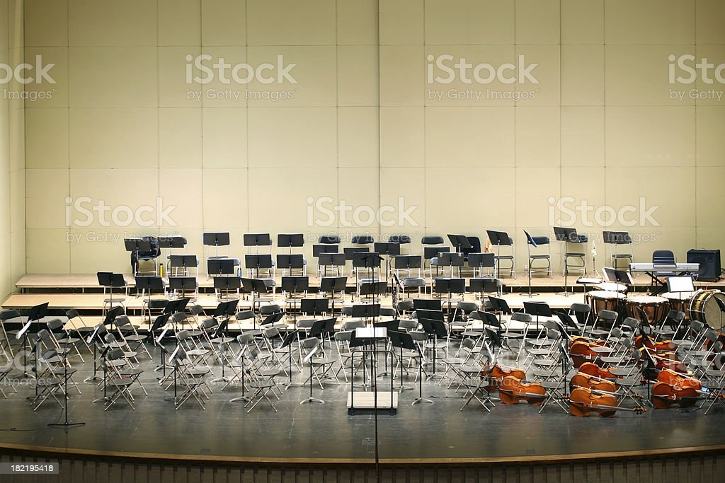 Empty Stage Before Concert stock photo