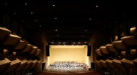 Empty Stage in Concert Hall