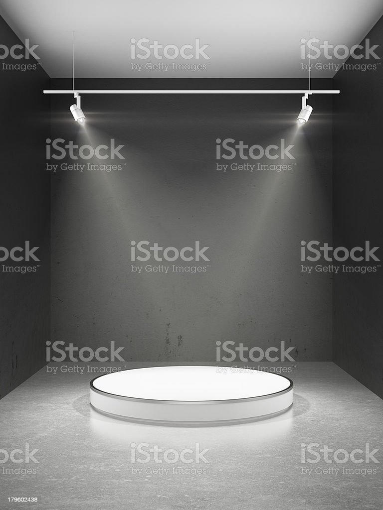 Empty stage in spot lights royalty-free stock photo